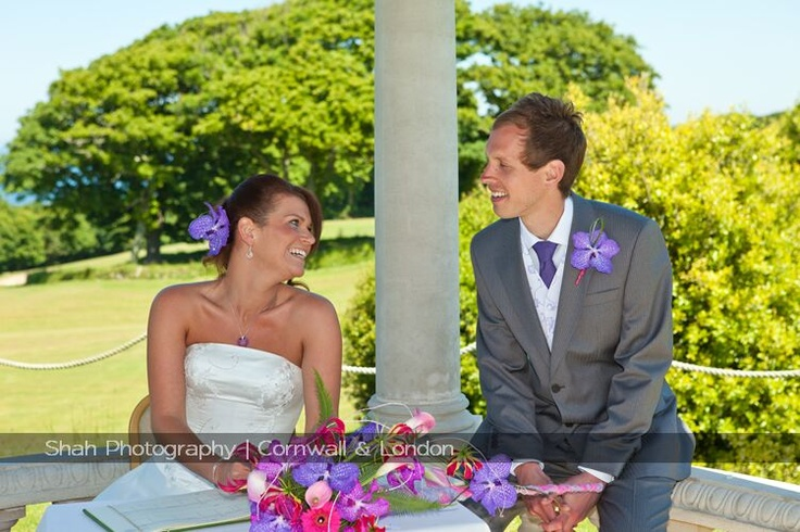After signing the marriage register the newly weds are at ease as their wedding ceremony draws to a close.   Weddings at Tregenna are relaxed and allow couples to create the wedding of their dreams aided by a great wedding team to make it all happen