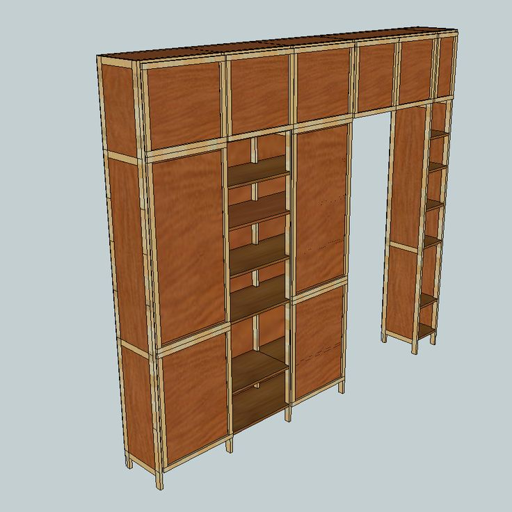 Corridor-shelf for a hallway with a door with 20-mm plates, 18-mm boards