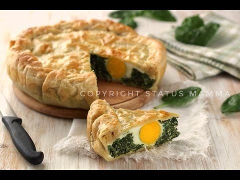 Torta salata pasqualina facile ricetta pasqua video tutorial quiche spinaci uova ricotta food recipes Easter today