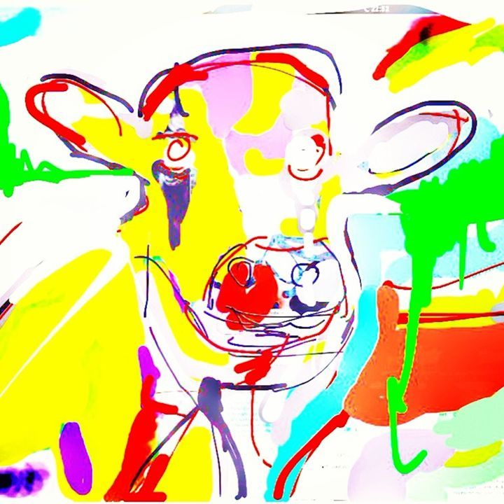 yellow & red Cow - Willem Boronski