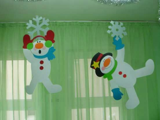 * Leuke, verschillende, sneeuwpoppen voor boven je groepstafel!