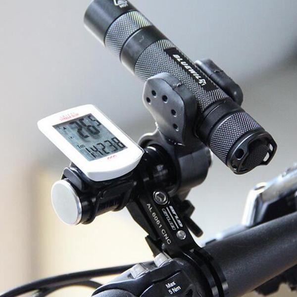 Hot Black 2 x Universal Bike Handle Bar Holder Mounting For Flashlight Torch