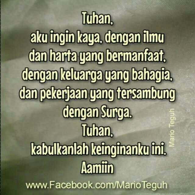 Quote from mario teguh