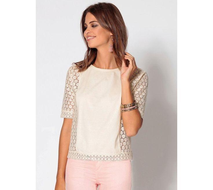 Tričko s čipkou | modino.sk #ModinoSK #modino_sk #modino_style #style #fashion #bluzka #tunika #kosela