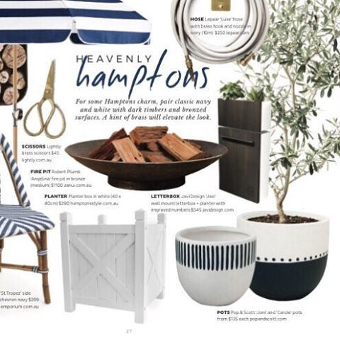 Did you see? Our timber planter boxes have been featured in the @adoremagazine planted issue. Get yours for a very Hamptons garden or entry