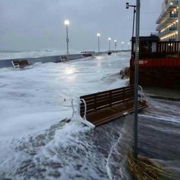 Hurricane Sandy Storm Damage in Ocean City Maryland