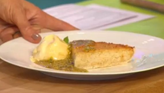 Simon Rimmer Coconut Tart with Passionfruit Sauce
