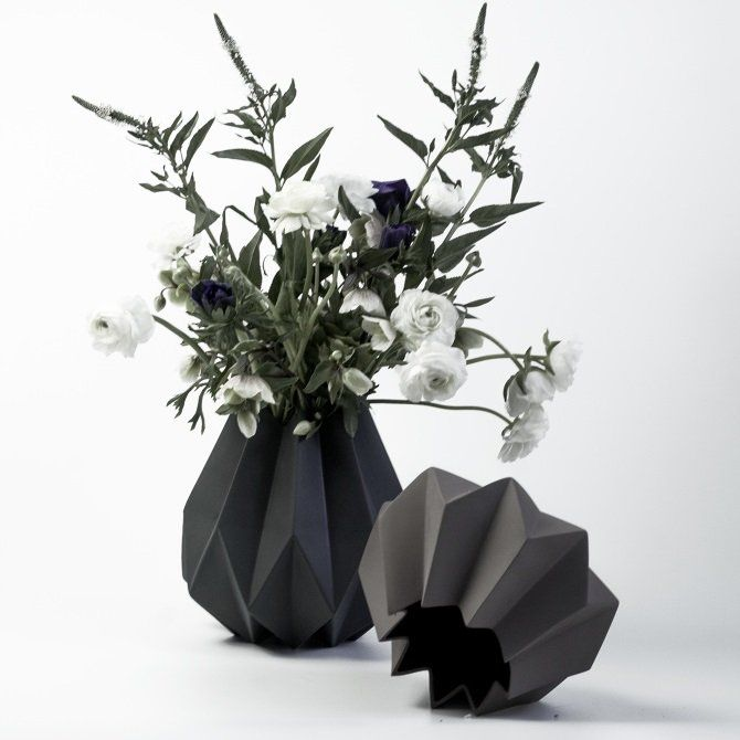 Amanda Betz's folded vases inhabit a world between origami and ceramics.