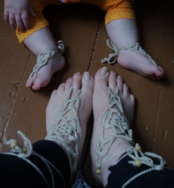 123 besten Crochet Barefoot Sandals Bilder auf Pinterest ...