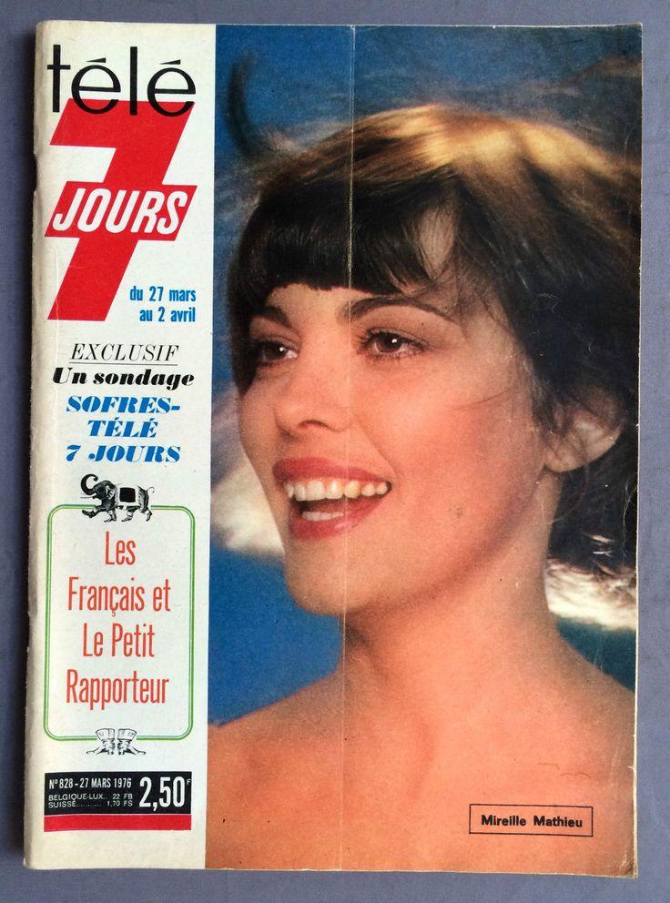 ►tele 7 Jours 828 1976 Mireille Mathieu Joanna Lumley Jean Rochefort Garbo | eBay