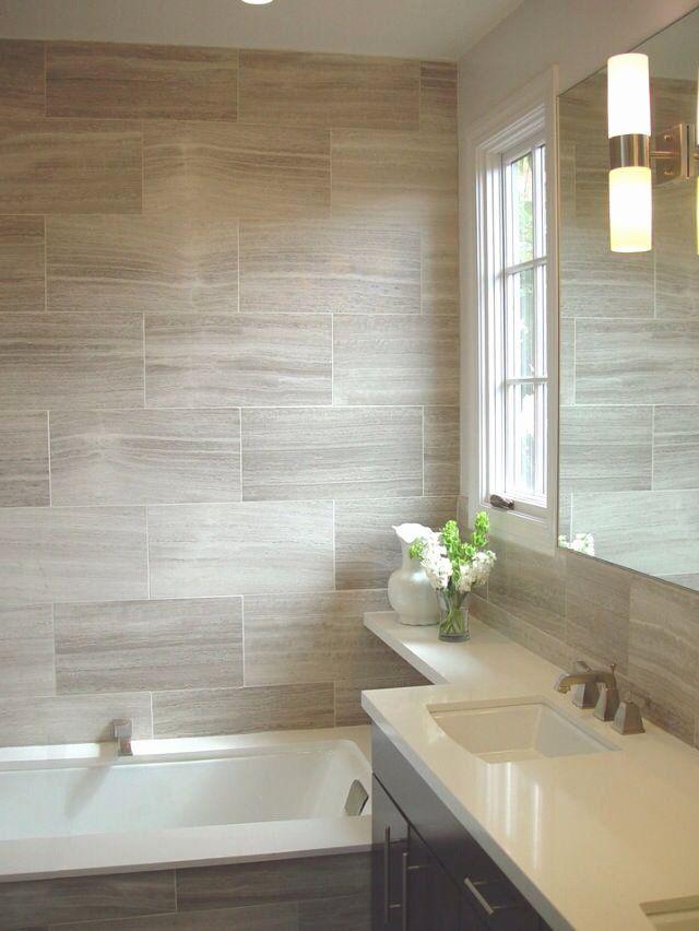 Love The Mixture Of Beige And Grey In This Bathroom By Biglarkinyan Design Bathroom Design Contemporary Bathroom Bathrooms Remodel