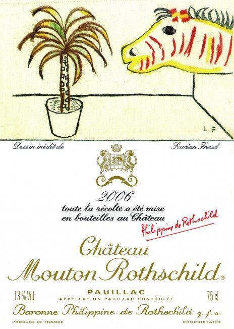Etiquette Mouton Rothschild 2006  LUCIAN FREUD