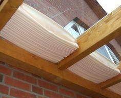 Glasdach-Sonnensegel «61x220 cm» Uni weiß, Faltsonnensegel | Sonnensegel Terrassen-Beschattung Garten Schatten Segel Sonnenschirm