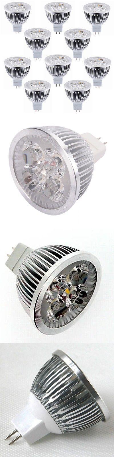 Lamps Lighting And Ceiling Fans 56141 Lot Of 10 White 12V 4W Mr16 Led
