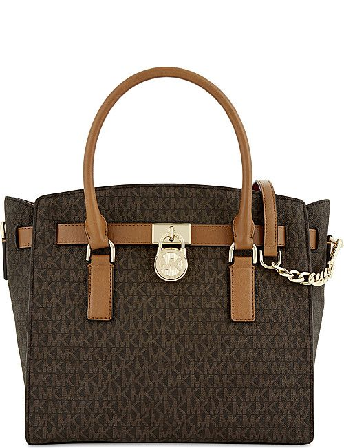 MICHAEL MICHAEL KORS Hamilton East/West large leather satchel
