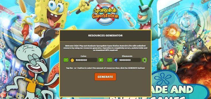 - Unlimited Coins - Unlimited Diamonds  SpongeBob Game Station Hack Online:  http://resources-generator.online/spongebob-game-station.html