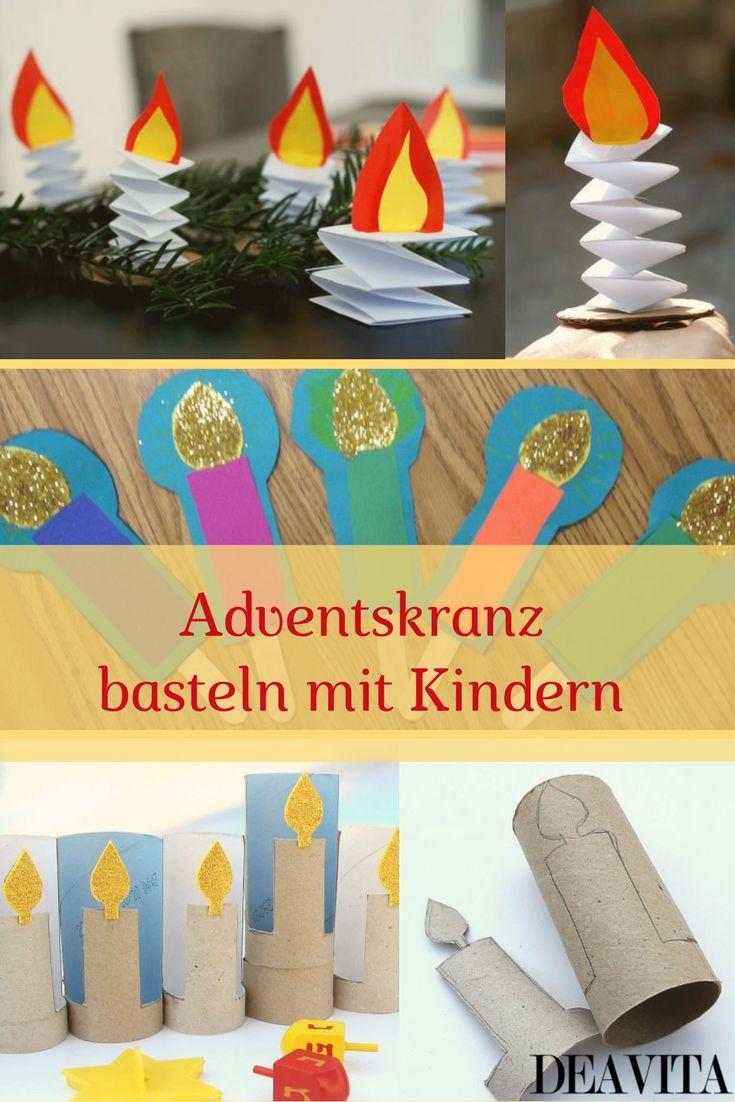 Wenn Sie in diesem Jahr selbst gemeinsam mit Ihren kleinen Kindern einen Adventskranz basteln wollen, finden Sie hier einige Anregungen.