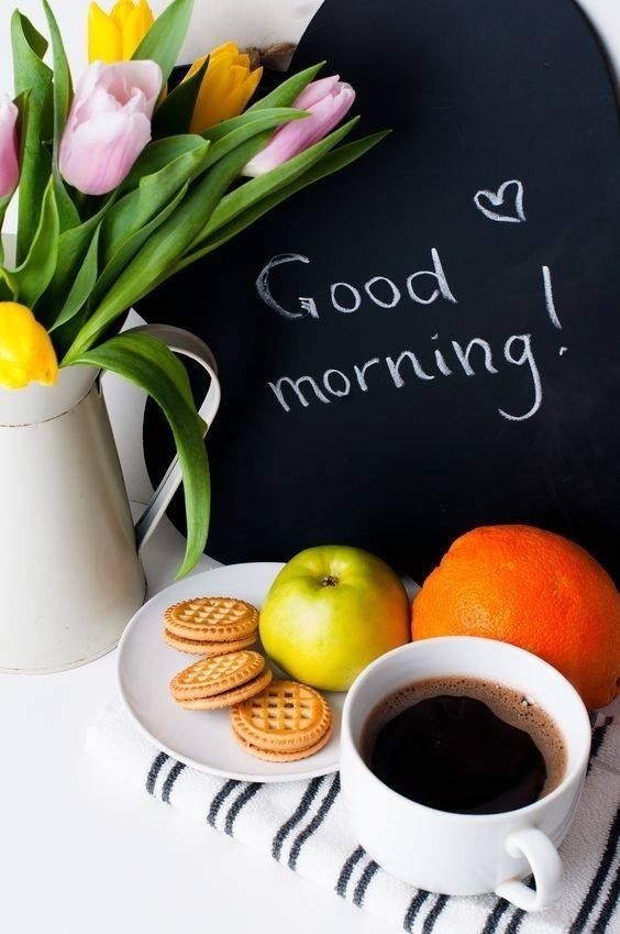 Good Morning Everyone Coffee : Good morning coffee flowers fruit this