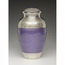 Elegant Purple Cremation Urn