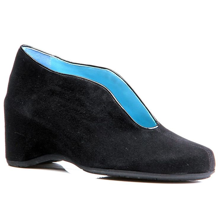 Thierry Rabotin Aida Wedge Black Suede. Comfortable ShoesBlack ...