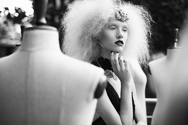 Designer: Waleria Tokarzewska -Karaszewicz www.facebook.com/tokarzewska  Photo: Voodica Photography Models: Karo / Como Model Management &Magdalena Kowal Mua: Jola Uzolnik make up Hair: Ania Pyziołek / CLAUDIUS HAIR TRESER TEAM