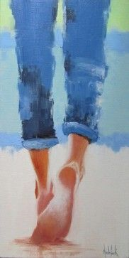 Beach Ballet, Original, Painting - contemporary - Paintings - Zatista