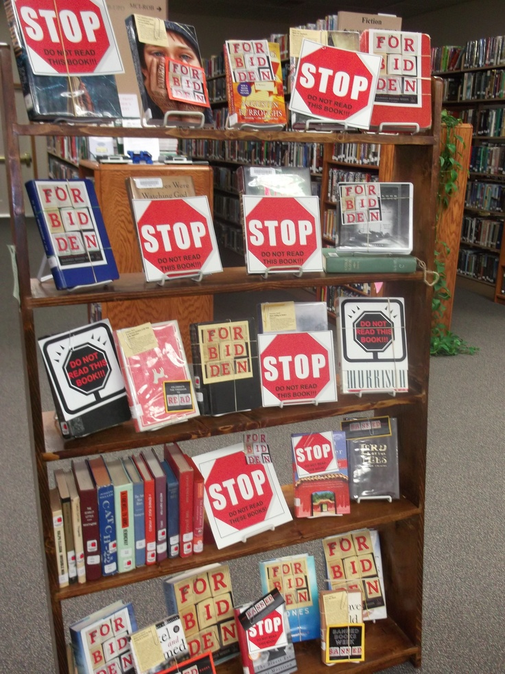 Banned Book Display High School Library Ideas