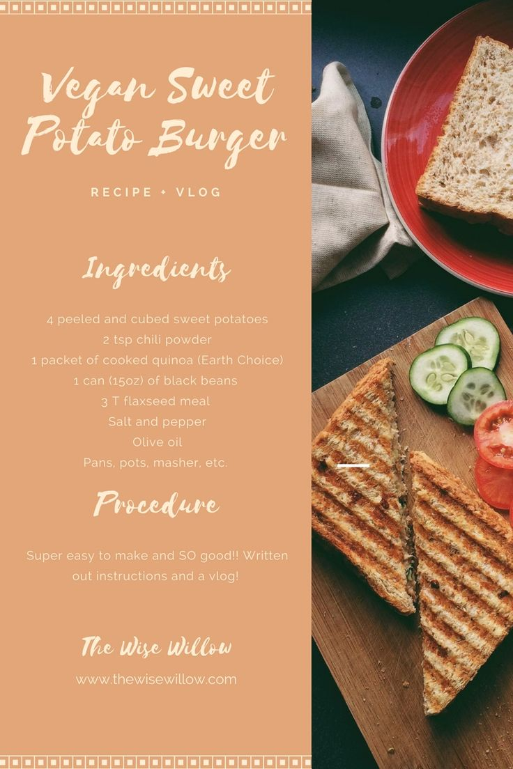 The Wise Willow - Vegan Sweet Potato Burgers Recipe and Vlog