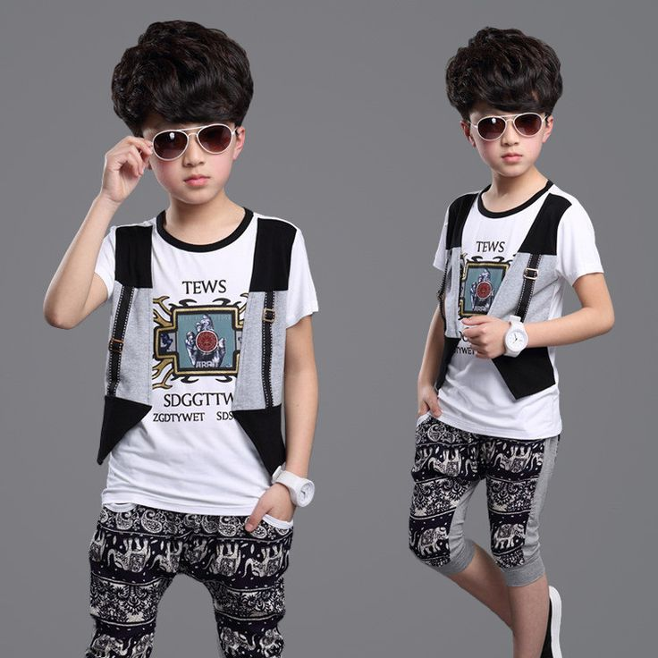 2015 new children's clothing cartoon baby set t shirt + pants+vest sport suits summer style kids clothes set+boy clothing