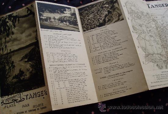 TANGER Años 1950´S Fotos y vistas * Antiguo folleto turistico