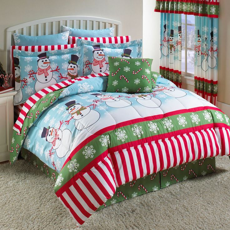 Snowman Party Total Bed Set™ & More | Bed Sets | Brylanehome: Kids Bedrooms, Christmas Holidays,  Comforter, Snowman Parties, Quilts,  Puff, Home Kitchens, Beds Sets, Kids Rooms