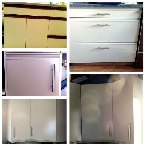 Painting kitchen cabinets cheap kitchen redo gardens for Cheapest way to redo kitchen cabinets
