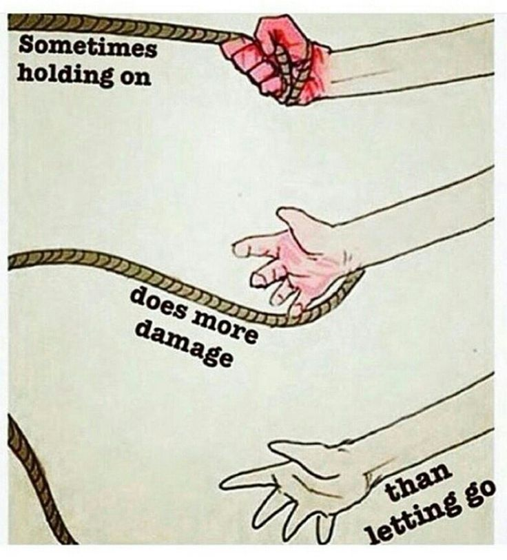 So very true. Why hold on to the things or people who are just going to hurt you and not love you. God wants us to be forgiving, not holding on to bitterness or anger. God said to leave the 99 to find the 1 that was lost! Not to say, oh let them go they will find their way. I dont need that hurt anymore, I am letting go.