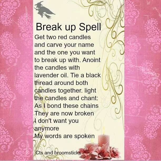 how to break up a relationship spell
