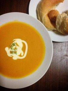 Slow-cooked Pumpkin Soup!