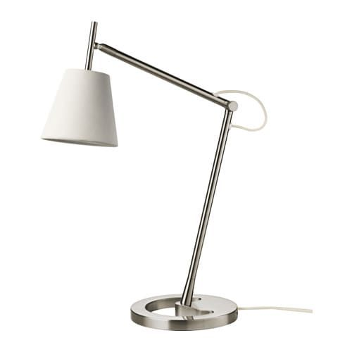 Nyfors Nickel Plated White Work Lamp Ikea Lamp Work Lamp Floor Lamp Base