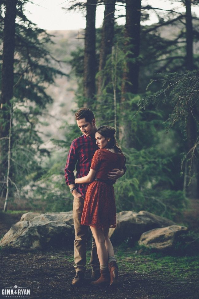 Forest Engagement Session | Forest Woods Engagement Session | www.GinaAndRyan.com