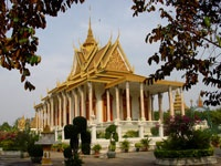 'The Silver Pagoda' - Phnom Penh, Cambodia (It is also known as 'Wat Preah Keo Morokat' and the Temple of the Emerald Buddha.')