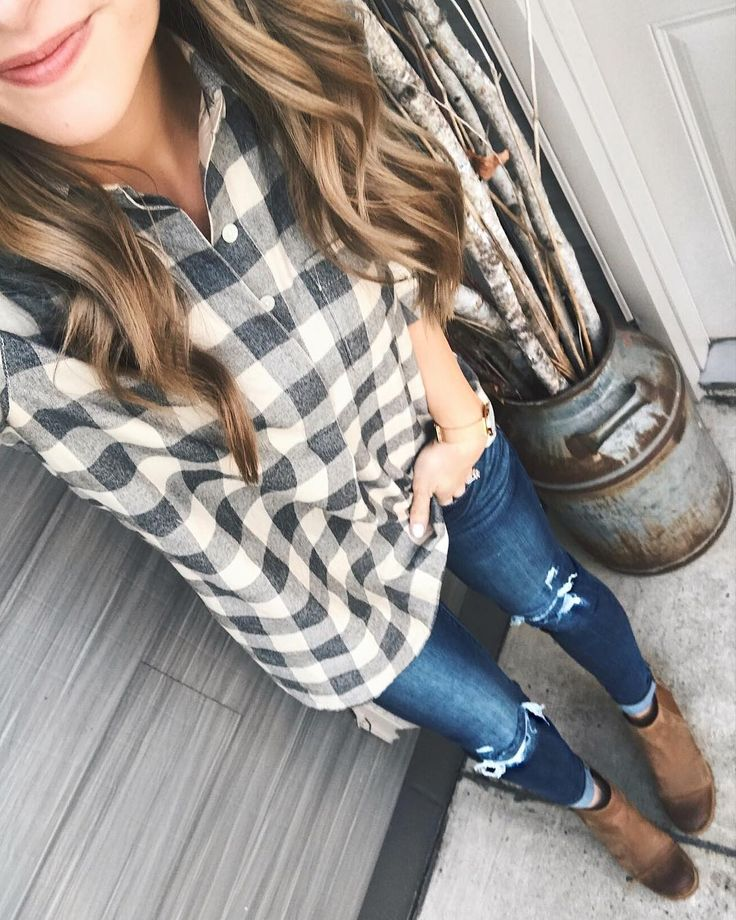 Hope everyone had a very Christmas with their families!  Cant believe its already over but grateful for all the good times that were had this weekend.  Changed into my casual duds after church - this flannel shirt has the cutest button back detail! | Shop my posts at http://ift.tt/2kde9gI or by following me on the @liketoknow.it app. http://liketk.it/2u0xd #liketkit
