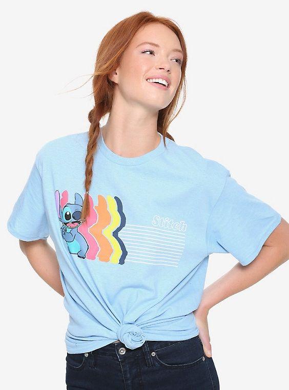 33e6033969 Disney Lilo & Stitch Rainbow Repeat Womens Tee - BoxLunch Exclusive ...