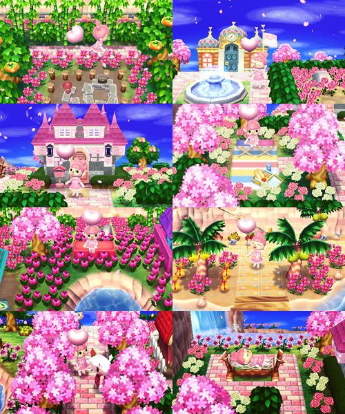 """totorocrossing: """" dreamcode ♥ ♥ 6500 - 3304 - 9459 i don't think i've ever felt as much like a cute anime girl as when i was visiting the town of royall! so sweet and pink and lovely~ """""""