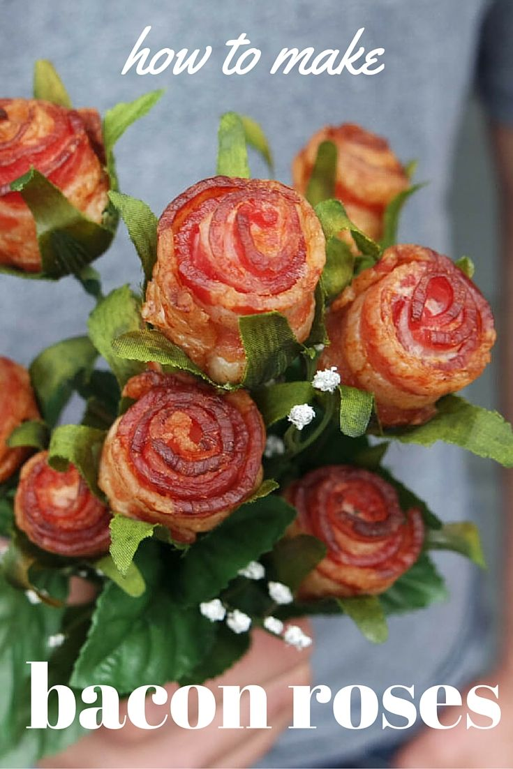 say it with bacon! here's a simple tutorial on how you can make your own bacon roses.