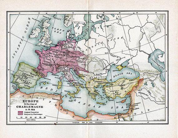 Vijf kaarten uit 1914 van de Europese geschiedenis door ArtDeco