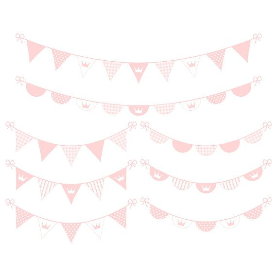 Digital Banner Clipart - Pink Digital Bunting Clipart - Baby Girl Clipart - Printable Banner - Instant Download - Commercial Use - PNG / JPG on Etsy, $3.00