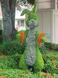Rabbit topiary... Happy Easter posted on garden web forum by hazelnut bunny