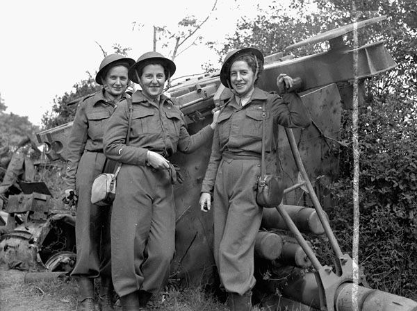 The first nursing sisters of the Royal Canadian Army Medical Corps to land in France after D-Day. This source is credible because it was in a photo gallery on the website Collections Canada and has a date and the person who took it listed. It tells us that women are more accepted and are allowed to participate more in WW2 than WW1.