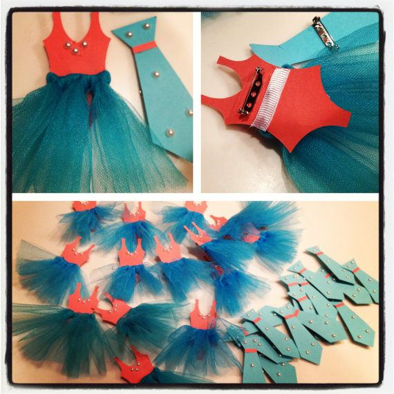 Ties or Tutus Gender Reveal Party wearable by CharmingTouchParties, $22.50