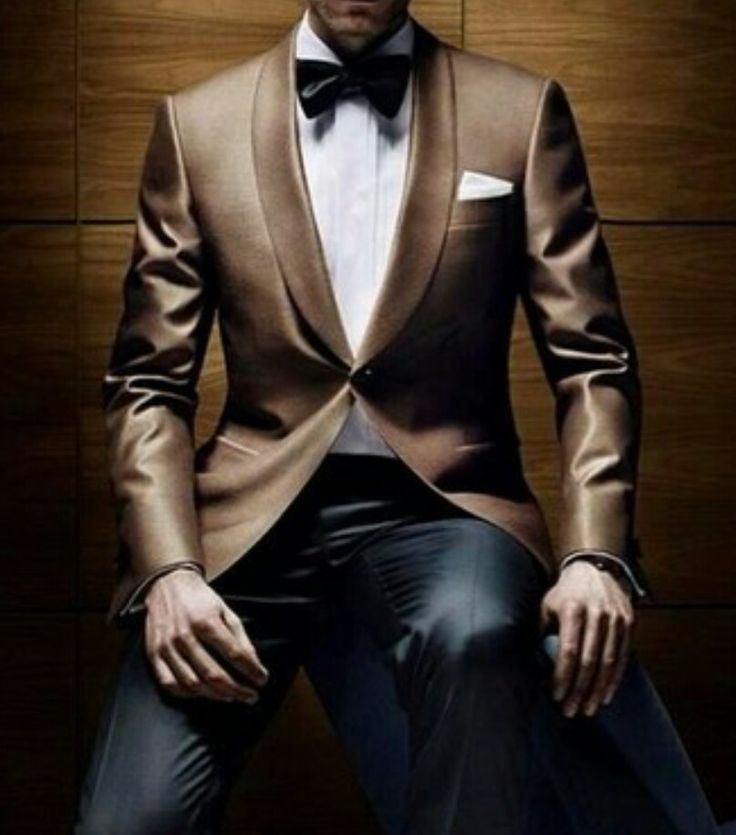 Need…Jacket…Like…This…although this does work in a James Bond-ish, stuffy, formal kinda way...yea, I would loose the bow tie! Instead put on a contrasting tie-loosened with a slim-fit white shirt-untuckked, switch the white hanky with a black satin hanky and top it off with a stylish slim-fit gray vest then wear unbuttoned with attitude, cause...dang...smokin'!  Or hey dress it down a bit with dark, distressed, indigo jeans -  the possibilities...   ~ JP