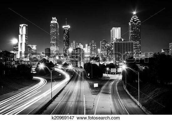 Image - trafic, sur, liberté, route express, et, les, atlanta, horizon, soir, voir k20969147 - Recherchez des Photos, des Images, des Photographies et des Clips Arts - k20969147.jpg