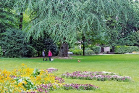 Le parc de la Marseillaise à Guebwiller